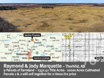 View AB/THORHILD COUNTY 138.88 +- ACRES ON - Listing #16116486