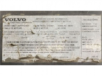VOLVO D13 Engines Attachment